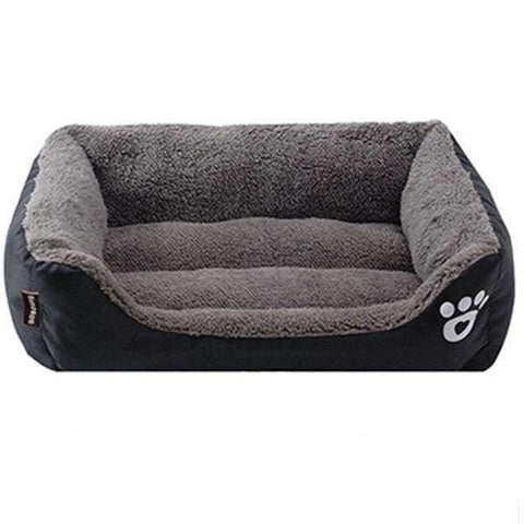 Bed With Paw Print - Black / S - Beds