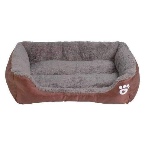 Bed With Paw Print - Coffee / S - Beds