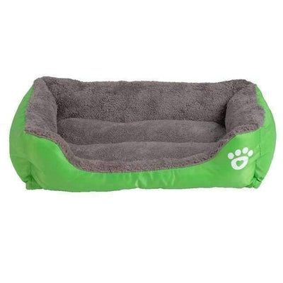 Bed With Paw Print - Green / S - Beds