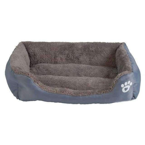 Bed With Paw Print - Grey / S - Beds