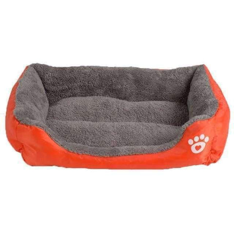 Bed With Paw Print - Orange / S - Beds