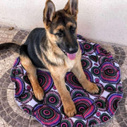 Rubio Rules | Round Bed Purple Circles | Dog Supplies