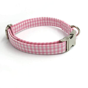 Rubio Rules | Pink Checkered Collar | Dog Supplies