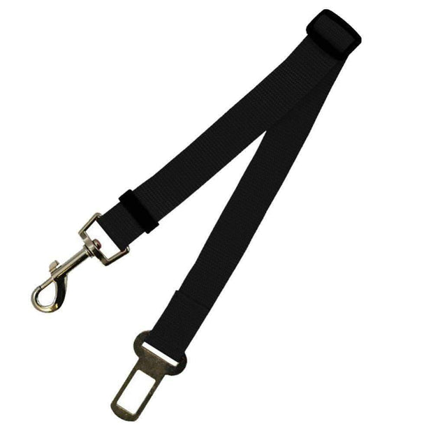 Safety Seat Belt Leash for dogs - Black