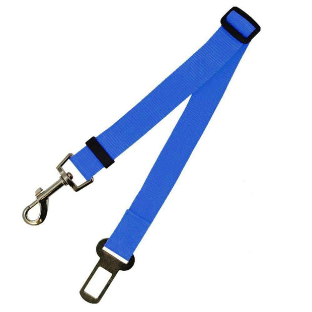 Safety Seat Belt Leash for dogs - Blue