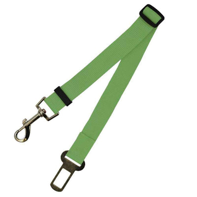 Safety Seat Belt Leash for dogs - Green