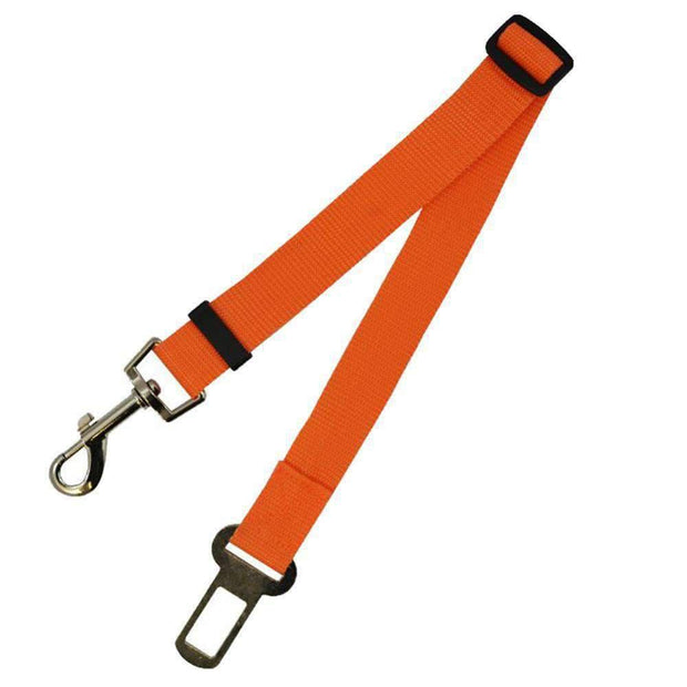 Safety Seat Belt Leash for dogs - Orange
