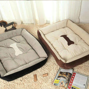 Dog Bed With Bone Print - Beds