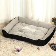 Dog Bed With Bone Print - Black / Xxs - Beds
