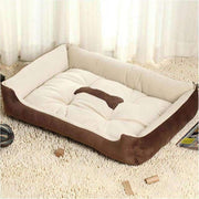 Dog Bed With Bone Print - Brown / M - Beds