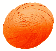 Rubber Frisbee - Orange / L