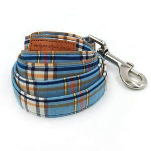 Rubio Rules | Blue Plaid Leash | Dog Supplies