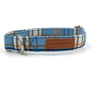 Rubio Rules | Blue Plaid Collar | Dog Supplies