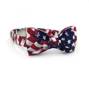 Rubio Rules | American Flag Collar with Bow Tie | Dog Supplies