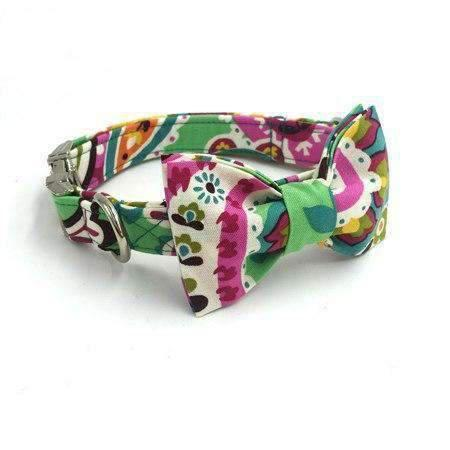 Rubio Rules | Diana Flower Collar with Bow Tie | Dog Supplies