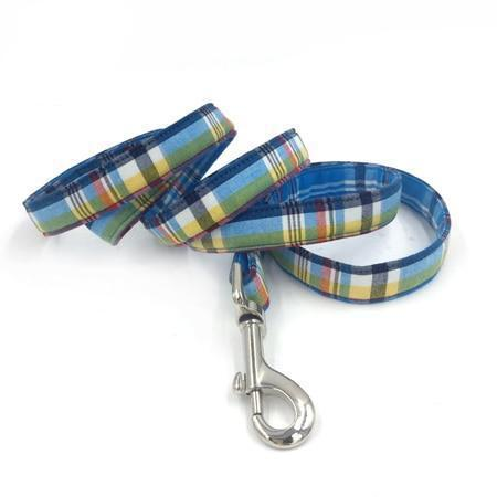 Blue & Yellow Scottish Plaid Leash