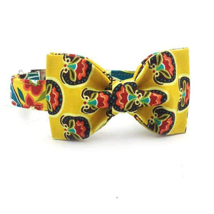 Rubio Rules | Yellow Collar Summer Flowers with Bow Tie | Dog Supplies