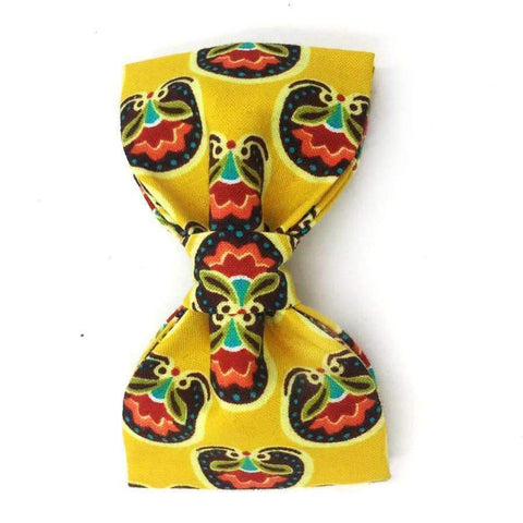 Yellow Collar Summer Flowers With Bow Tie