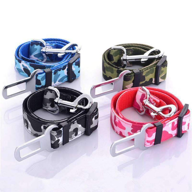 Camouflage Safety Seat Belt Leash - Leashes