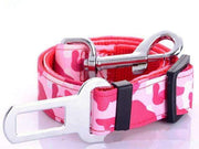 Camouflage Safety Seat Belt Leash - Pink - Leashes
