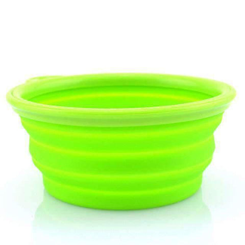 Portable Foldable Travel Bowl - Green - Bowls