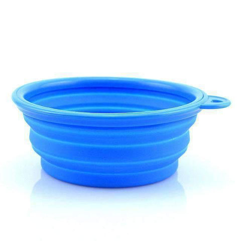 Portable Foldable Travel Bowl - Blue - Bowls