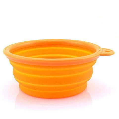 Portable Foldable Travel Bowl - Orange - Bowls