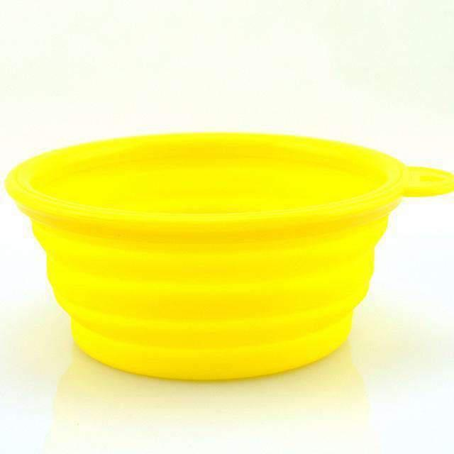 Collapsible Portable Bowl - Yellow
