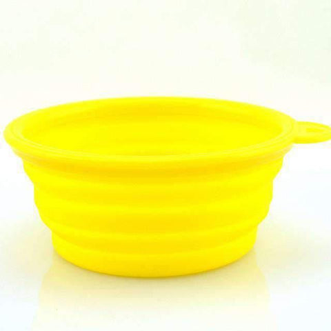 Portable Foldable Travel Bowl - Yellow - Bowls