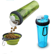 Rubio Rules | Portable Food & Drink Bottle with Foldable Bowl | Dog Supplies
