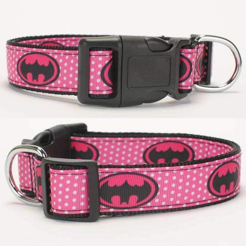 Rubio Rules | Pink Batman Collar | Dog Supplies