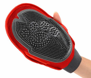 Red Brush Glove