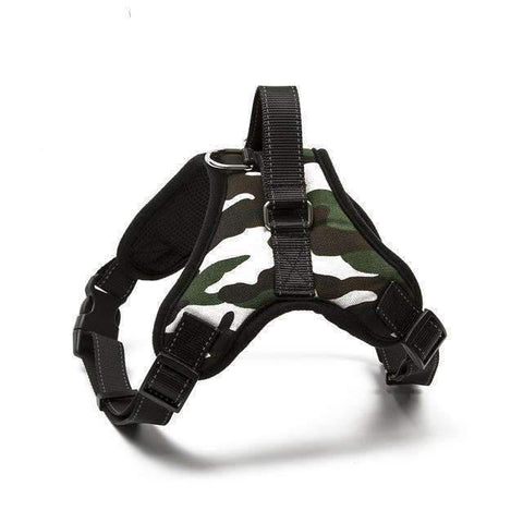 Strong Camouflage Harness With Reflective Stripe - Camouflage 2 / L - Harness