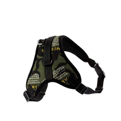 Strong Camouflage Harness With Reflective Stripe - Green / L - Harness