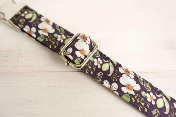 Purple Collar with Chrysanthemum Print