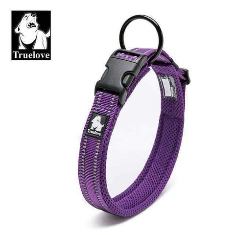 Truelove Reflective Mesh Collar - Purple / L