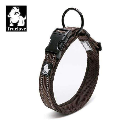Truelove Reflective Mesh Collar - Brown / L