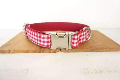 Red Checkered Collar - Xs