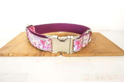 Rubio Rules | Pink Flowers Collar | Dog Supplies