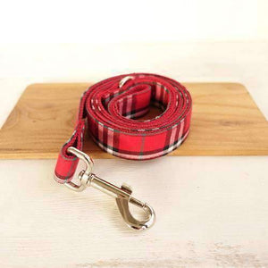 Rubio Rules | Red Plaid Leash | Dog Supplies