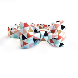 Rubio Rules | Triangles Collar with Bow Tie | Dog Supplies