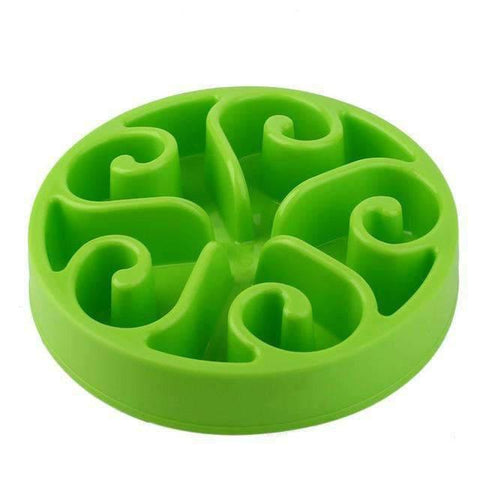 Slow Feeder Bowl Flower Pattern - Green / M - Bowls