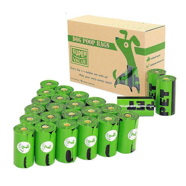 Eco-Friendly Hygienic Bags, 20 Rolls (360 Bags)