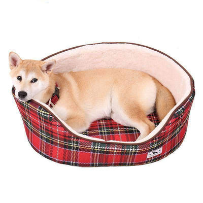 Rubio Rules | Red Plaid Bed | Dog Supplies