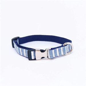 Rubio Rules | Blue Striped Collar | Dog Supplies