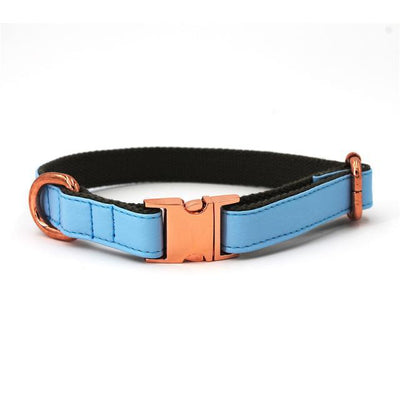 Light Blue Leather Collar