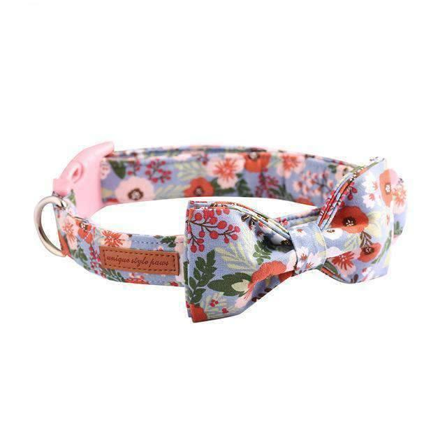 Rubio Rules | Spring Flower Collar with Bow Tie | Dog Supplies
