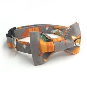 Smart Fox Collar with Bow Tie