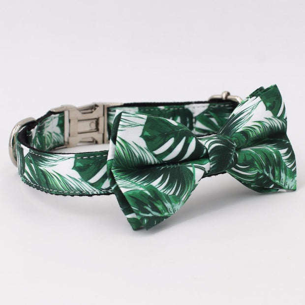 Tropical Collar with Bow Tie