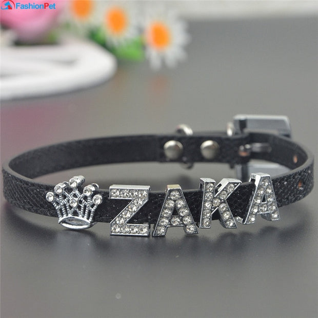 Leather Collar with Personalized Name